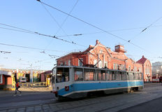 Tram depot behalf of Apakova, opened August 4, 1909. , Moscow, Russia Stock Photos