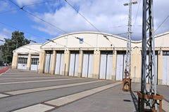 Tram depot in Helsinki Royalty Free Stock Image