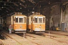 Tram Depot Porto, Portugal Royalty Free Stock Image