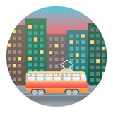 Tram Detailed Illustration Royalty Free Stock Photos