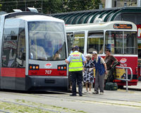 Tram di Budapest Fotografie Stock Libere da Diritti