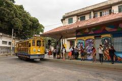Tram di Classim di Santa Teresa in Rio de Janeiro, Brasile Immagini Stock