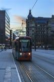 Tram di Francoforte Fotografie Stock Libere da Diritti