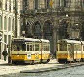 Tram di Milano Immagini Stock Libere da Diritti