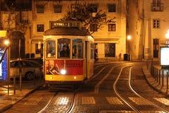 Tram di notte Fotografia Stock Libera da Diritti