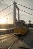 Tram di numero 2 a Budapest Fotografia Stock Libera da Diritti