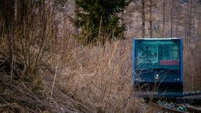 Tram die zich vooruit bewegen Royalty-vrije Stock Afbeelding