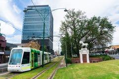 Tram in Doosheuvel, Melbourne Australië Stock Foto's