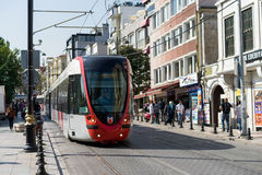 Tram in downtown in Istanbul Stock Photos