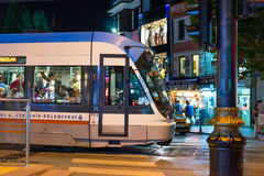 Tram in downtown in Istanbul Royalty Free Stock Images