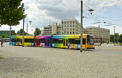Tram, Dresden, Deutschland Lizenzfreie Stockfotografie