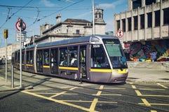 Tram in Dublin Royalty Free Stock Photos