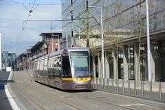 Tram in Dublin Stock Photo