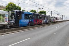 Tram in Dusseldorf royalty free stock image