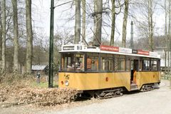 Tram in Dutch Open Air Museum in Arnhem Stock Photography