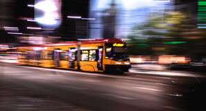 Tram dynamique Photos stock