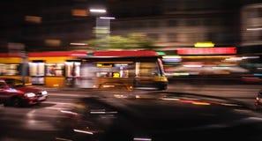 Tram dynamique Images stock