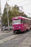 Tram a Ekaterinburg, Federazione Russa Immagine Stock Libera da Diritti