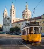 Tram in Estrela Royalty Free Stock Photo