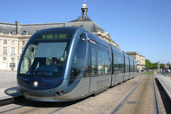 Tram france bordeaux. Tram in the historic centre of Bordeaux france Stock Photos