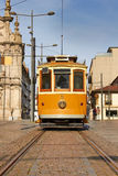Tram in front of Carmo Church Royalty Free Stock Images