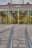 Tram garage Stock Photography
