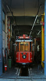 Tram in garage. Istanbul turkey Royalty Free Stock Photography