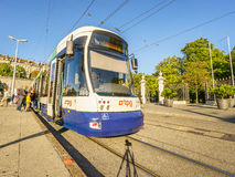 Tram in Geneva, Switzerland - HDR Royalty Free Stock Images
