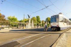 Tram in Geneva, Switzerland - HDR Royalty Free Stock Photo