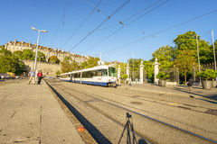Tram in Geneva, Switzerland - HDR Royalty Free Stock Photo