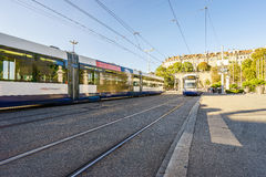 Tram in Geneva, Switzerland - HDR Stock Photography
