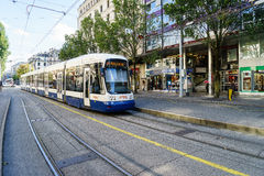 Tram in Geneva, Switzerland Royalty Free Stock Photos