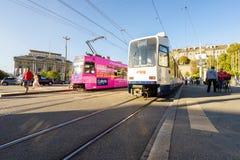 Tram in Geneva, Switzerland Stock Photo