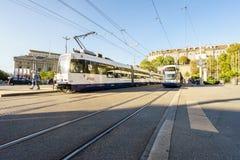 Tram in Geneva, Switzerland Royalty Free Stock Photos