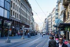 Tram in Geneva, Switzerland Royalty Free Stock Photography