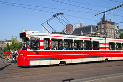 Tram in The Hague - Holland Royalty Free Stock Photos