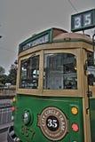 Tram HDR de cercle de ville de Melbourne Images stock