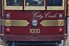 Tram HDR de cercle de ville de Melbourne Photos libres de droits