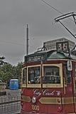 Tram HDR de cercle de ville de Melbourne Image stock