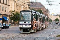 Tram in Helsinki Stock Photography