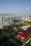 Tram on hill Royalty Free Stock Photos