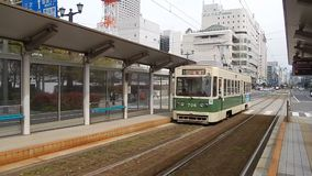 Tram in Hiroshima stock footage