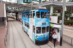 Tram in HK Lizenzfreies Stockbild
