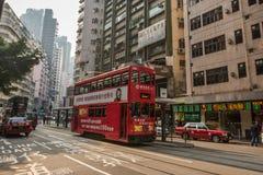 Tram in Hong Kong Stock Photography