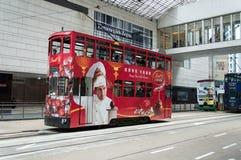 Tram in Hong Kong Island Royalty-vrije Stock Afbeelding