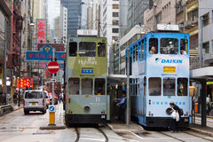 Tram in Hong Kong Island Stock Image