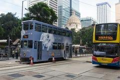 Tram in Hong Kong Island Stock Image