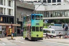 Tram in Hong Kong Island royalty free stock photo