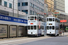 Tram in Hong Kong is the only tram system Royalty Free Stock Photos