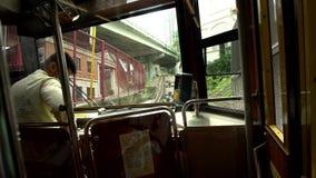 Tram in Hong Kong stock video footage